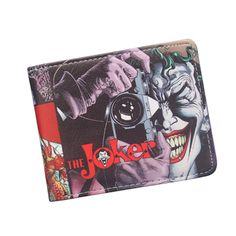 New Batman The Joker Wallets Funny Comics Character Joker With Camera Men Wallet Suicide Squad Harley Quinn Wallet Gift For Boy
