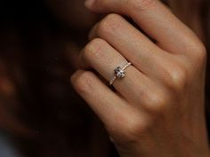 It's so simply. I love it! Morganite Ring Diamond Morganite Ring Morganite by MinimalVS $950.00