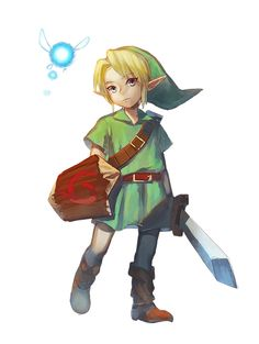 I never played Ocarina of Time as a kid, and I know I seriously missed out. But I watched a walk through on the 3DS and whoa! Amazing game!!