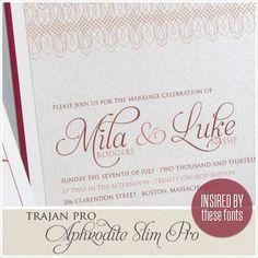 Mila & Luke - Envelopments Wedding Invitation