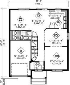 House plan number - a beautiful 3 bedroom, 2 bathroom home. Traditional House Plans, Traditional Design, Monster House Plans, Roof Detail, Front Elevation, Plumbing Fixtures, Ceiling Height, Traditional Bathroom, Second Floor