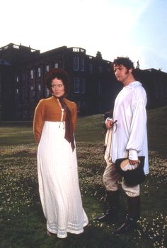Jennifer Ehle and Colin Firth as Elizabeth Bennet and Fitzwilliam Darcy | Pride and Prejudice (1995)
