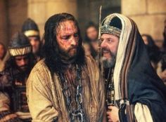 Bible study questions: Who were Annas and Caiaphas, and why did they arrest Jesus? What happened at the trial of Jesus? What happened after the trial? Jesus Stories, Bible Stories, Catholic Mass Readings, Christ Movie, Testament, Bible Pictures, Jesus Pictures, Mel Gibson, High Priest