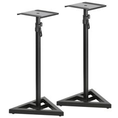 New Studio Monitor Speaker Stand Height Adjustable Concert Band Club DJ Pair - http://musical-instruments.goshoppins.com/pro-audio-equipment/new-studio-monitor-speaker-stand-height-adjustable-concert-band-club-dj-pair/