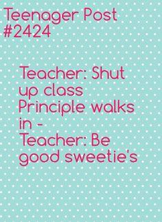 I have a teacher like that
