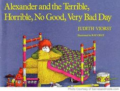 Best Books for Preschoolers - Book Recommendations for Toddlers - Alexander and the Terrible, Horrible, No Good, Very Bad Day.