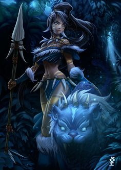 Ancestral Nidalee - League of Legends Lol League Of Legends, Elsword, Fantasy Paintings, Fantasy Artwork, Fantasy Characters, Female Characters, Cartoon Characters, Fan Art, Angels And Demons