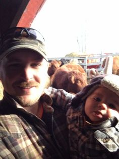 """Brought Alexander out to meet the cows today! Cows, Farm Animals, Farms, Celtic, Beef, Couple Photos, Couples, Twitter, Meat"