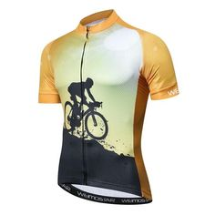 fd43bc1fe Weimostar Yellow Bike Team Cycling Jersey Summer Mountain Bicycle Jersey  Shirt Maillot Ciclismo Road Racing mtb