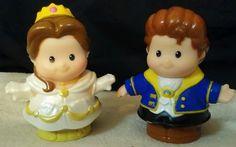 Fisher-Price Little People Disney Princess Belle & Prince Adam Beauty & Beast  #FisherPrice
