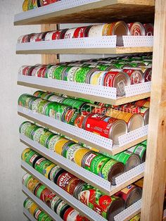 DIY canned food rotator