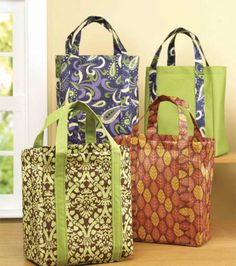 Make your own shopping bags...........now you can wash them without them falling…
