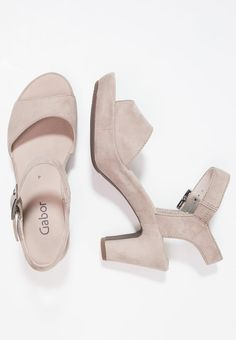 ca607ee44682 Gabor Platform sandals - beige - Zalando.co.uk Heeled Mules