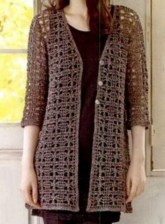 "The clear pattern of this Lace Cardigan + other 28 Gorgeous Crochet and Knit Designs in: ""Nice Crochet Clothes / Summer and Spring"""