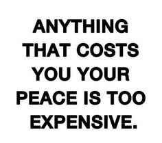 Cost of Peace.