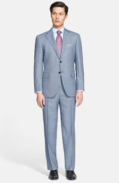 Classic Fit Nailhead Wool Suit