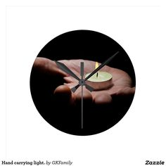 Hand carrying light. round wall clocks
