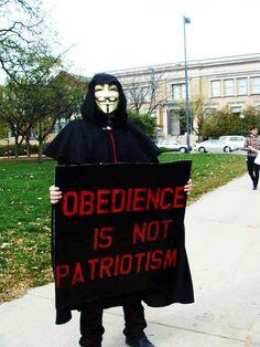Obediencia no es patriotismo