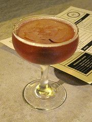 High and Low: Zaya rum, Fino sherry, Cointreau, grenadine (@ Plan Check)