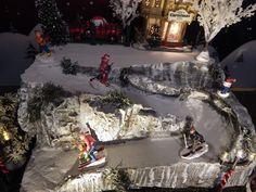 Christmas Village Display base Platform SKI SLOPE, snow mountain, Dept 56 lemax | Collectibles, Decorative Collectibles, Decorative Collectible Brands | eBay!