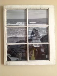 old window picture frame - engagement picture
