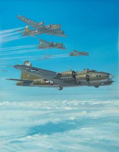 Boeing B-17 Flying Fortress  by John Young (1930–2015)  Royal Air Force Museum