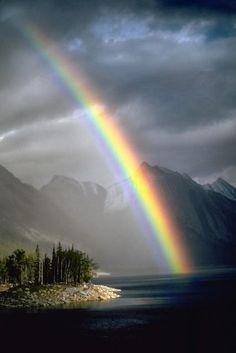 Afternoon Thunderstorm over Medicine Lake - Jasper National Park, Alberta Canada