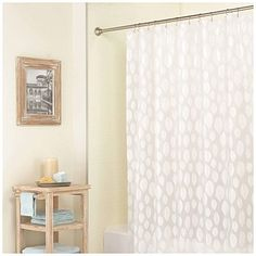 Brighten up your #bathroom and stay squeaky clean with these premium vinyl shower curtains from #BigLots! #bathroomdecor