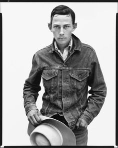 Richard Avedon - In the American West - Jon Wearley, ranch hand, Augusta, Montana, June 1982 Richard Avedon Portraits, Richard Avedon Photography, Robert Frank, Sophia Loren, Famous Photographers, Portrait Photographers, Cthulhu, Into The West, Henry Miller