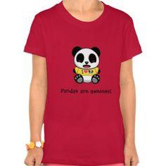 Personalized Panda Girls Bella Jersey T-shirt