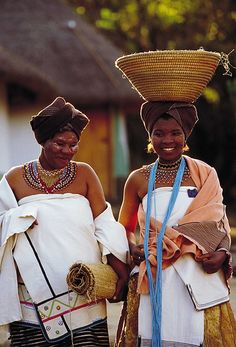 Africa | Xhosa Bride.  Lesedi Cultural Village, Gauteng, South Africa | ©South African Tourism