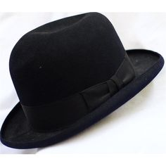 0d50f7ecfad Vintage Dunn   Co Black Bowler hat