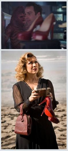 F.Y.I.: River Song's pumps are a weapon of mass destruction. There they are in The Black Archive. You go girl.