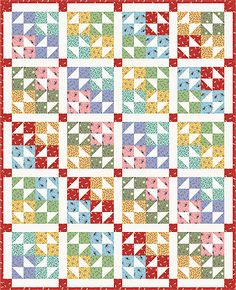 Color Wheel Quilt Pattern and Quilt Kit