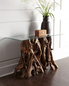 Quinten Teak Console Table