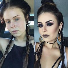 This phenomenal smoky-eye look: | 19 Glorious Makeup Transformations That Deserve A Standing Ovation