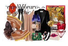 """""""Library Chic"""" by emiliemcleod ❤ liked on Polyvore featuring Olympia Le-Tan, Salvatore Ferragamo, Lime Crime, Yves Saint Laurent, Bordelle, Sans Souci, Prada, Jessica Carlyle, Gucci and Pat McGrath"""