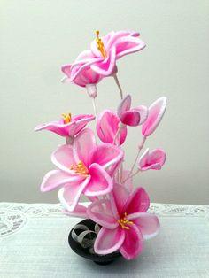 Arreglo de flores de Nylon hecho a mano