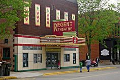 Old Regent Theatre - Allegan, Mich - Old Regent Theatre is said to house a shadowy apparition, spotted in the projection room, and witnesses have described cold spots, the touch of a cold hand, and unseen presences.