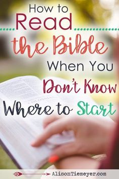 Do you have a burning hunger to read God's Word, but don't know where to start? I was a flipper - flipping pages but getting nowhere. Here are my thoughts about how to read the Bible, as well as some practical places you can begin today!