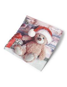 20 Servilletas de papel Oso de Navidad 33x33 cm