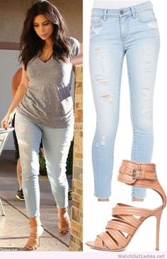 Kim Kardashian perfect day look