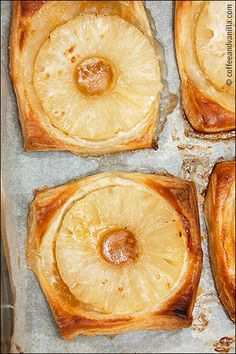 quick pineapple pastry recipe puff pastry tinned pineapple