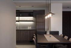 INDOT | THE FAMILY'S INN Compact House, Casa Clean, Kitchen Interior, Sweet Home, Minimalist, House Design, Architecture, Table, Furniture