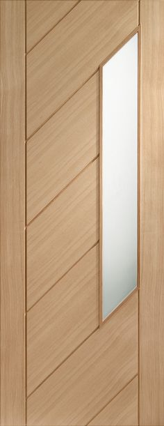 Monza Internal Oak Door with Obscure Glass Flat Image - June 23 2019 at Room Door Design, Door Design Interior, Wooden Door Design, Main Door Design, Interior Doors, Modern Wooden Doors, Wooden Front Doors, Rustic Doors, Oak Doors