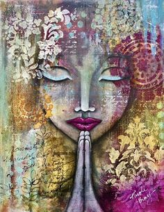 Zen Art Inspiration Journal Pages 44 Super Ideas Art Journal Inspiration, Art Inspo, Painting Inspiration, Arte Pallet, Namaste Art, Frases Namaste, Buddha Art, Yoga Art, Zen Art