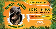 Win – @DinosAliveSA tickets @CapeGate