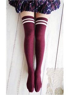 Gorgeous Retro Knee-high Preppy Style  Socks ~ So preppy #cute ! $18.19