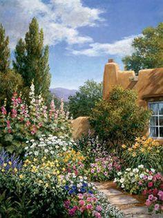 A secret garden or a hidden path somewhere
