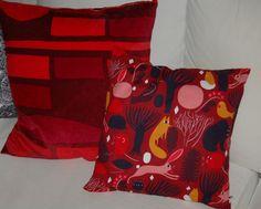 Marimekko+Lyhty+velvet+AND+Pikku+Huhuli+pillow+cushion+by+OttaShop